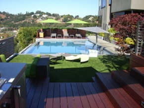pool artificial turf beauty